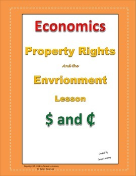 Economics Property Rights Lesson Plan Grades 3-6