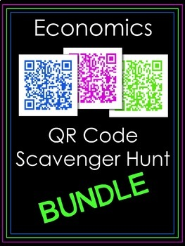 Economics QR Code Scavenger Hunt Bundle