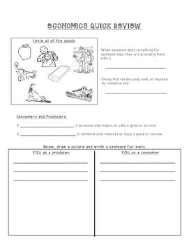 Economics Quick Review Sheet
