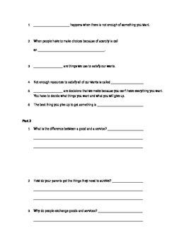 Economics Quiz with Study Guide