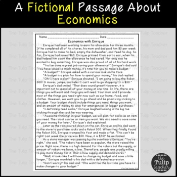 Economics Reading Comprehension Paired Passages