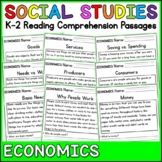 Economics Reading Comprehension Passages (K-2) - Social Studies