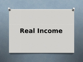 Economics: Real Income