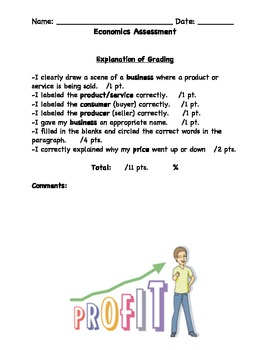Economics SHOW YOU KNOW Assessment