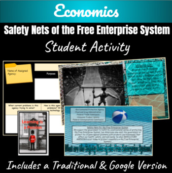 Economics: Safety Nets of the Free Enterprise System Student Activity