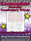 Economics: Scarcity Vocabulary Words Cut and Paste Activity - Economic Choices