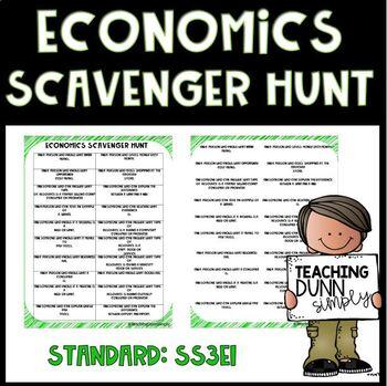 Economics Scavenger Hunt