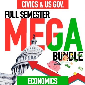 Economics Semester and Civics Semester Mega Bundle GOOGLE DRIVE ONLY