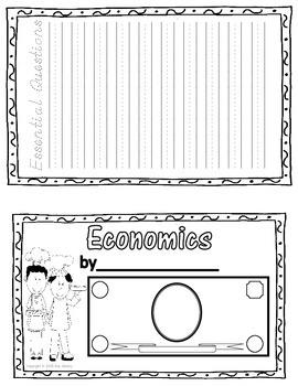 Economics Student Journal Portfolio Cover and Essential Questions