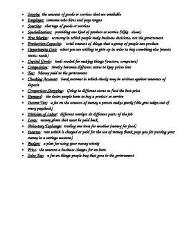 Economics Study Guide
