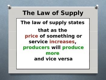 Economics - Supply
