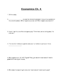 "Economics ""Supply""  Worksheet"