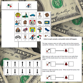 Economics:  Supply and Demand Unit for High School Special Ed with lesson plans