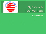 Economics Syllabus and Course Plan - outline of every day of the semester