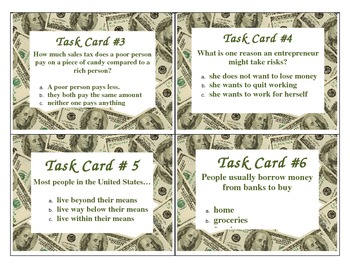 Economics Task Cards 5th Grade