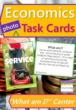 Economics Task Cards with PHOTOS