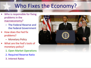 Economics - Taxes and Federal Spending Fiscal Policy Power Point High School