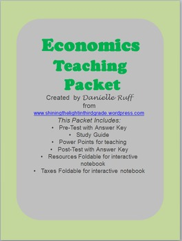 Economics Teaching Packet