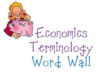 Economics Terminology Word Wall