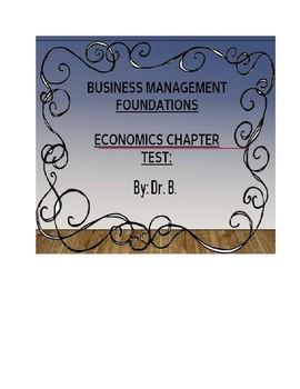 Economics Test: General Business