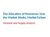 Economics – The Allocation of Resources – Demand and Suppl