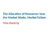 Economics – The Allocation of Resources – Price Elasticity