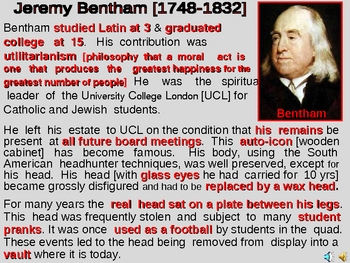 Economics - The Strange World of Jeremy Bentham