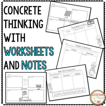 Economics Interactive Notebook & Worksheets BUNDLE