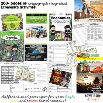 Economics Unit Bundle: Specialization, Trade, Price Incentives, Resources & More