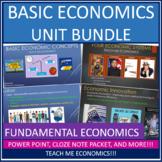 Economics Unit Bundle: Fundamental Economic Concepts, Scarcity, PPF, Systems