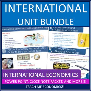 Economics Unit Bundle: International Concepts, Foreign Exchange,  Comparative Adv