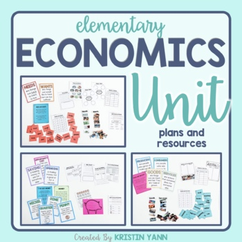 Economics Unit: Wants & Needs, Goods & Services, Saving &