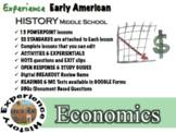 Economics Unit: Lessons, Readings, Breakouts & Tests / Middle School