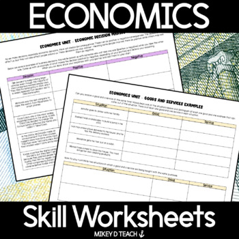 Middle School Economics Activity Pack