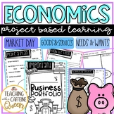 Economics Unit PBL - Market Day, Needs and Wants, Goods and Services Activities