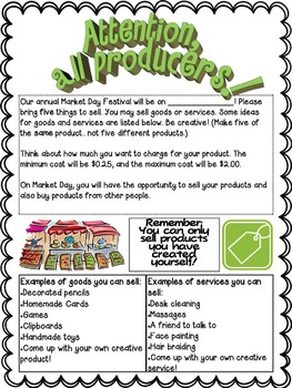 Economics Unit- Resources and Market Day Project