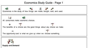 Economics Unit - Study Guide, 4 Foldables and 4 Sorts