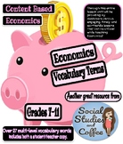Economics Unit Vocabulary - Includes both student worksheet and teacher answers