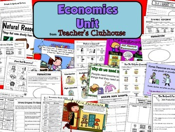 Economics Unit from Teacher's Clubhouse