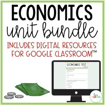 Economics Unit {lessons, study guide, centers, flashcards,