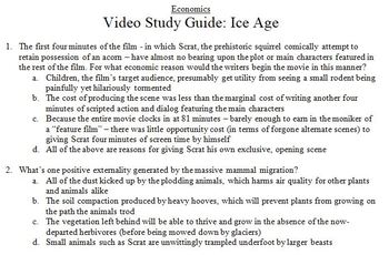 Economics Video Study Guide: Ice Age
