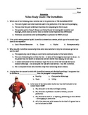 Economics Video Study Guide: The Incredibles