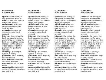 Economics Vocabulary