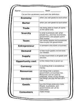 Economics Vocabulary Bundle