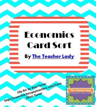 Economics Vocabulary Card Sort Activity