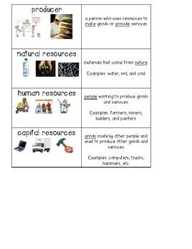 Economics Vocabulary Cards - Essential Vocabulary - Social Studies