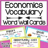 Economics Vocabulary Cards {Dots!}