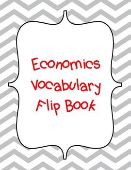 Economics Vocabulary Flip Book