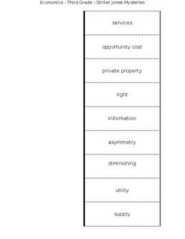 Economics Vocabulary Interactive Notebook Page