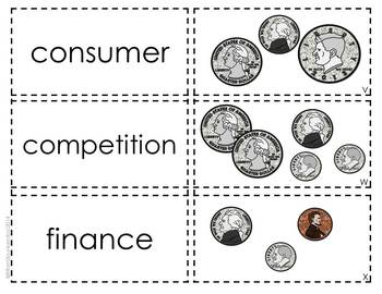 Financial Literacy Vocabulary and Math Activities